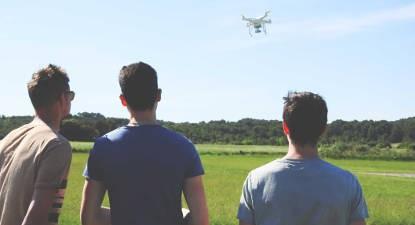 Pilotage de drone à Prades-le-Lez près de Montpellier