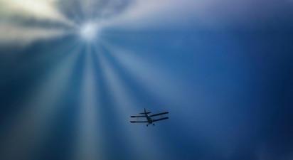 Baptême de l'air en avion Biplan au dessus du bassin d'Arcachon
