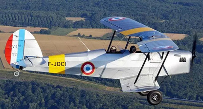 Baptême de l'air en avion biplan près de Nemours