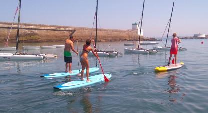 Cours de Paddle en mer à Bayonne