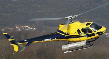 Baptême en hélicoptère au dessus des étangs de Leucate et Port Barcarès