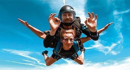 Saut en parachute tandem dans l'Oise près de Compiègne