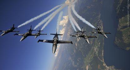 Vol en formation et voltige sur avion de chasse à Dijon