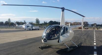 Baptême de l'air en hélicoptère près d'Avignon et Pont du Gard