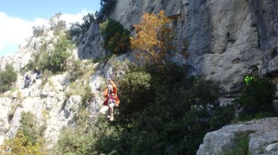 Via Ferrata du Thaurac près de Montpellier