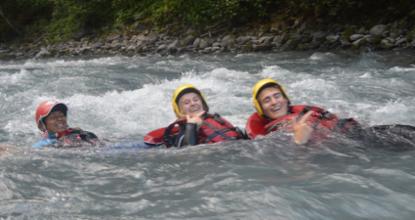 Descente en Rafting sur le Giffre entre Sixt et Samoëns