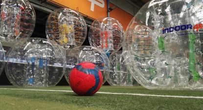 Partie de Bubble football à Lyon