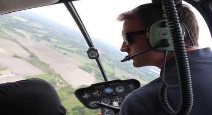 Baptême en Hélicoptère  à Millau