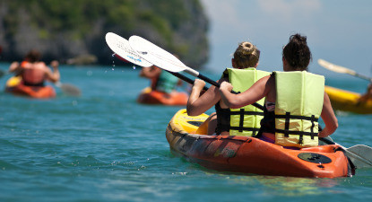 Balade en Kayak depuis la plage de la Nartelle à Sainte Maxime