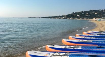 Stand up paddle à la plage de la Nartelle à Sainte Maxime