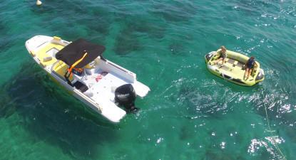 Bouée tractée ou Pédalo depuis la plage de la Nartelle à Sainte Maxime