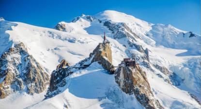 Survol en ULM de l'Aiguille du Midi
