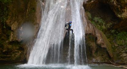 Descente du Canyon de Ternèze près de Chambery