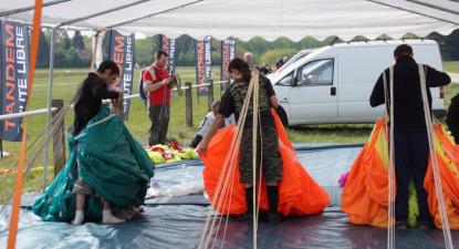 Initiation au parachute type PAC à Dijon