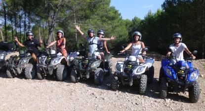 Randonnée en quad à Cabries près de Marseille
