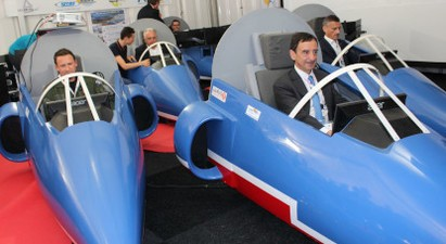 Pilotage à 2 sur simulateur d'avion Alpha Jet de la patrouille de France à Cannes