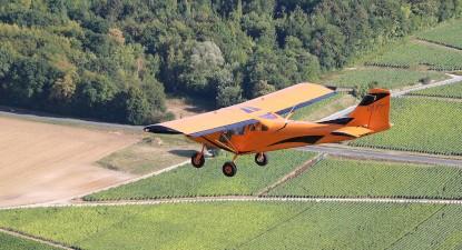 Baptême de l'air en avion ultra léger à Prunay au-dessus des coteaux du Champagne
