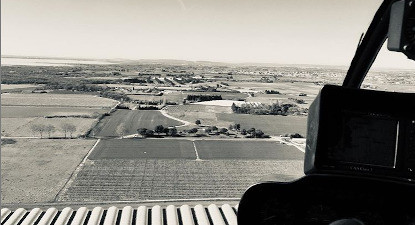 Vol pour 3 personnes en hélicoptère avec pilotage près de Montpellier
