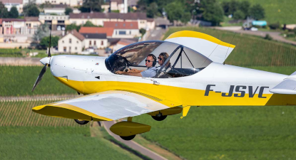 Initiation au pilotage d'avion léger à Beaune