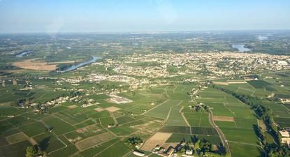 Vol sur 2 ULM au-dessus de Saint Emilion en Gironde
