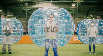 Partie de Bubble Bump au Havre