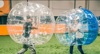 Partie de Bubble Bump à Rouen
