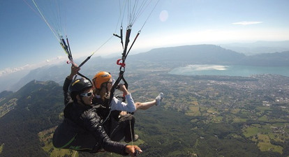 Vol en Parapente autour du lac du Bourget, Aix les Bains et Chambéry