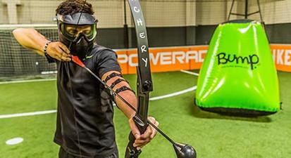 Partie d'Archery Tag à Paris