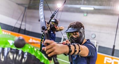 Partie d'Archery Bump à Dax