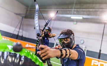 Partie d'Archery Bump à Frejus
