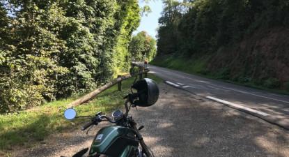 Location et randonnée en moto électrique pour 4 depuis Sélestat en Alsace