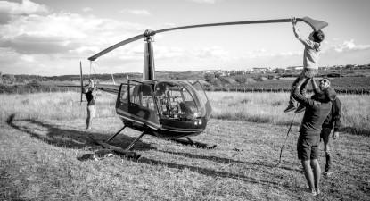 Vol en hélicoptère à Saint Etienne