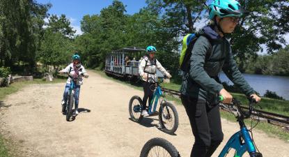 Randonnée en trottinette électrique au cœur de la forêt de Fontainebleau
