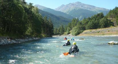Hydrospeed et nage en Eaux-Vives à Val Cenis en Savoie