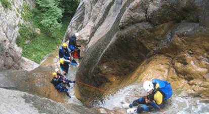 Canyoning près de Saint-Lary dans les Pyrénées  - Canyon Monte Perdido