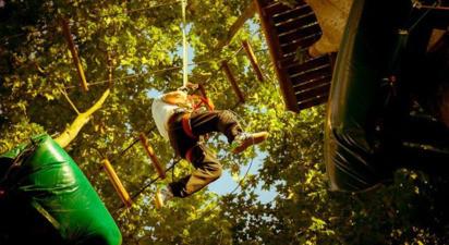 Parcours d'accrobranche et découverte du Quick Jump à Aix-en-Provence