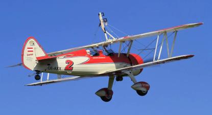 Baptême de l'air en avion Bi Plan de type Stearman à la Roche-Sur-Yon