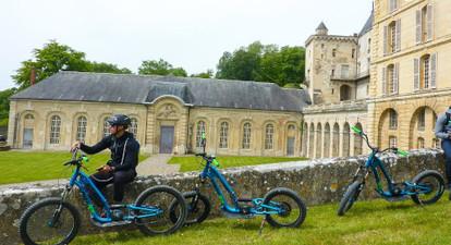 Randonnée en trottinette électrique à l'Isle-Adam près de Paris