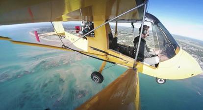 Vol en ULM au-dessus des plages de la Manche
