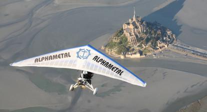 Survol en ULM du Mont Saint Michel