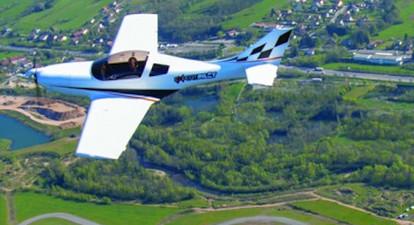 Baptême de l'air en avion léger en Alsace - Vol à Colmar