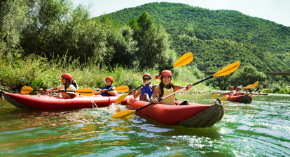 Descente en canoë du haut Rhône sauvage près d'Aix Les Bains