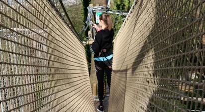 Parcours accrobranche sur l'île de loisirs de Paris Jablines