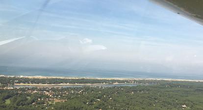 Vol en avion léger dans les Landes près de Dax
