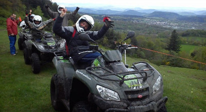 Randonnée en quad près du Puy en Velay