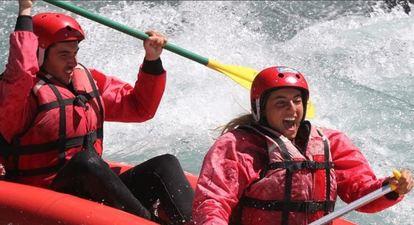 Canoës ou Kayaks sur la rivière Ubaye près de Barcelonnette