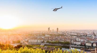 Baptême de l'air en hélicoptère à Lyon