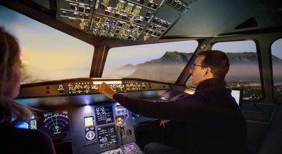 Simulateur de vol en avion de ligne près de Pau