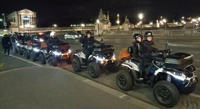 Balade en quad dans les rues de Paris