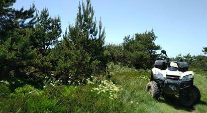 Randonnée en quad à Ussel près du Super Lioran
